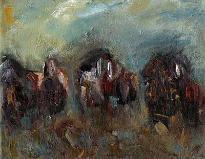 Horse Herd Painting - Caught Up In The Moment by Frances Marino