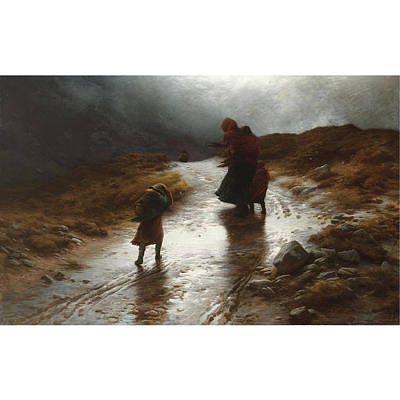 Joseph Farquharson Wall Art - Painting - Cauld Blaws The Wind Frae East by MotionAge Designs