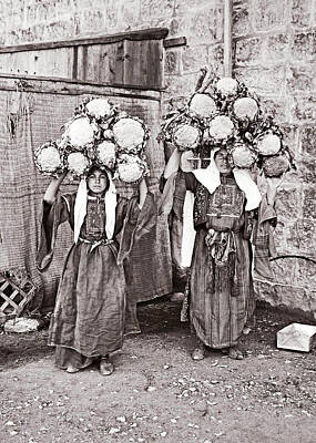 Photograph - Cauliflower Sellers In Bethlehem by Munir Alawi