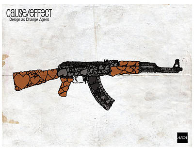Ak-47 Digital Art - Cause Effect by Enzo Cinquegrana