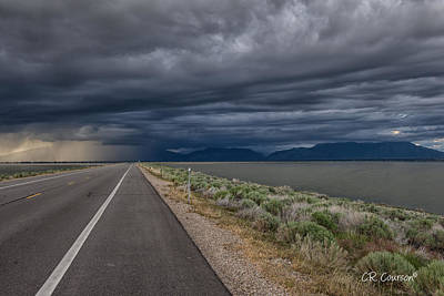 Photograph - Causeway Storm by CR  Courson