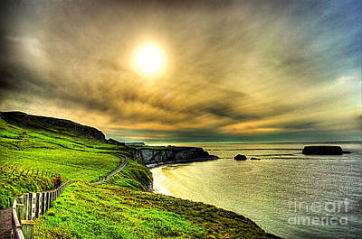 Causeway Sunset Walk Art Print by Kim Shatwell-Irishphotographer