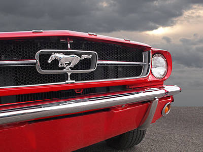 Photograph - Causing A Storm - 1965 Mustang by Gill Billington