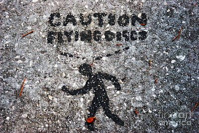 Photograph - Caution by Marty Gayler