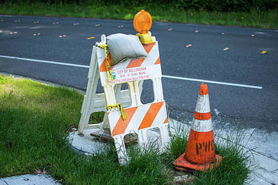 Photograph - Caution, Road Work by Tom Cochran