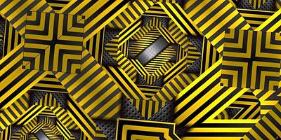 Digital Art - Caution by Ron Bissett