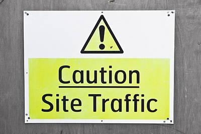 Caution Sign Art Print by Tom Gowanlock