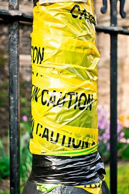 Cellophane Photograph - Caution by Tom Gowanlock