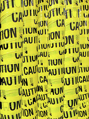 Carry On Art Photograph - Caution by Tony Rubino