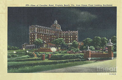 Digital Art - Cavalier Hotel Virginia Beach, Virginia 1940's by Melissa Messick