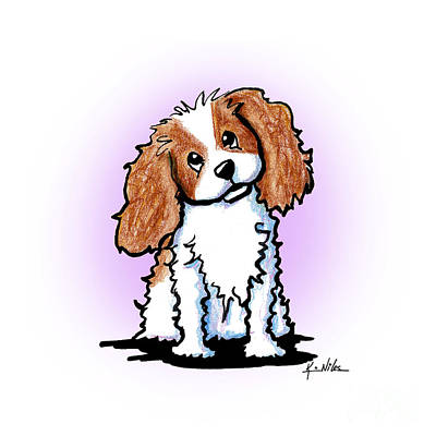 Spaniel Drawing - Cavalier King Charles Cutie by Kim Niles