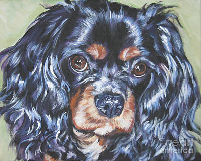 Painting - Cavalier King Charles Spaniel Black And Tan by Lee Ann Shepard