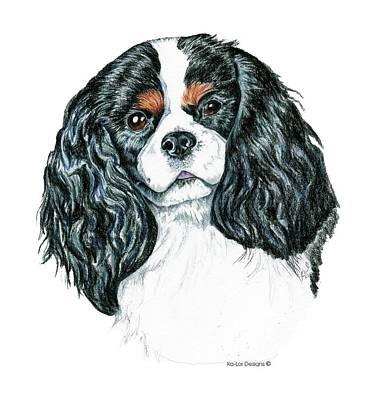 Dog Drawing - Cavalier King Charles Spaniel by Kathleen Sepulveda