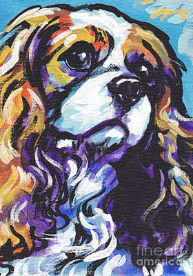 Portrait Dog Painting - Cavalier King Charles Spaniel by Lea S