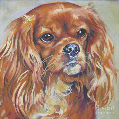 Painting - Cavalier King Charles Spaniel Ruby by Lee Ann Shepard