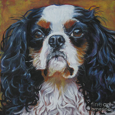 Painting - Cavalier King Charles Spaniel Tricolor  Head Study by Lee Ann Shepard