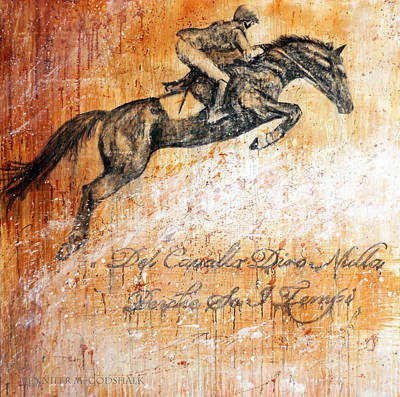 Painting - Cavallo Contemporary Horse Art by Jennifer Godshalk