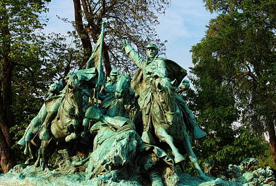 Patriotic Bronze Photograph - Cavalry Charge - Ulysses S. Grant Memorial by Glenn McCarthy