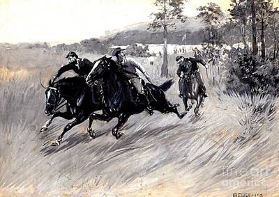 Painting - Cavalry Soldiers 1905 by Peter Gumaer Ogden Collection