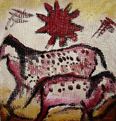Mixed Media - Cave Art 1 by Shelley Bain