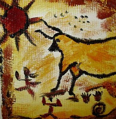 Mixed Media - Cave Art 2 by Shelley Bain