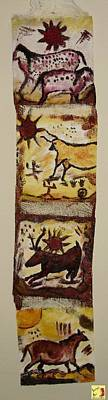 Mixed Media - Cave Art Wall Hanging by Shelley Bain