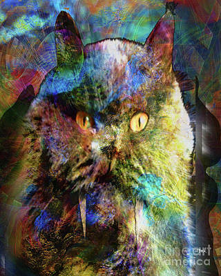 Digital Art - Cave Cat by John Beck