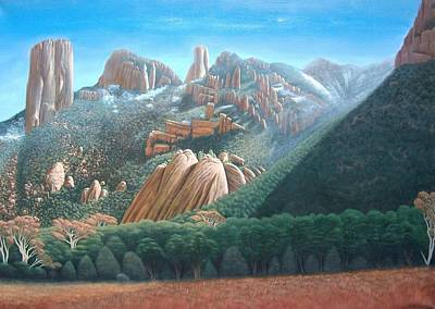 Cave Creek Western Painting - Cave Creek Canyons by Philipp Merillat