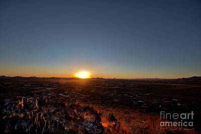 Photograph - Cave Creek Sunset by David Arment