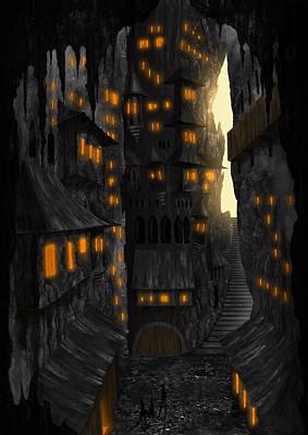 Cave Dwellings 1 - By Diana Van Art Print by Diana Van
