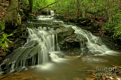 Photograph - Cave Falls At Cole Run by Adam Jewell