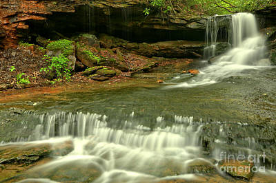 Photograph - Cave Falls Cascades by Adam Jewell