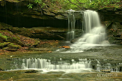 Photograph - Cave Falls Gentle Cascades by Adam Jewell