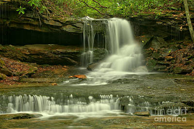 Photograph - Cave Falls In The Laurel Highlands by Adam Jewell