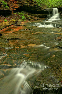 Photograph - Cave Falls Portrait - Forbes State Forest by Adam Jewell