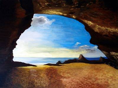 Painting - Cave by Gunter  Tanzerel