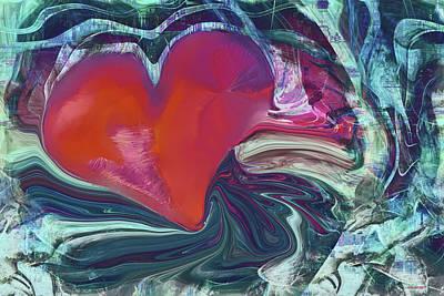 Digital Art - Cave Heart by Linda Sannuti