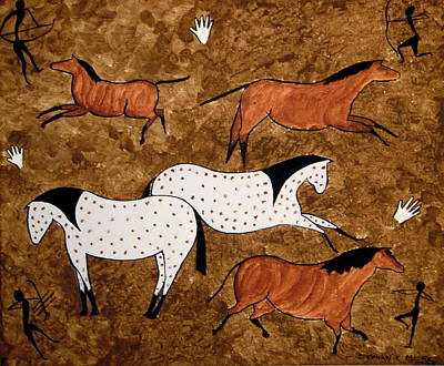 Painting - Cave Horses by Stephanie Moore