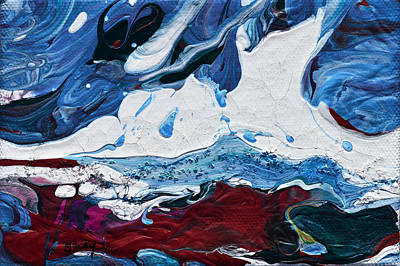 Painting - Cave Of The Snow Bear by Donna Blackhall