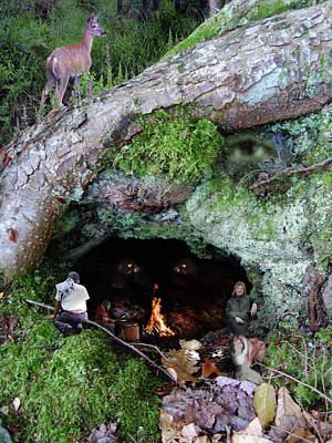 Digital Art - Cave Of Woodland Spirit by Nancy Griswold