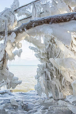 Nikki Vig Royalty-Free and Rights-Managed Images - Cave Point Ice formation in Door County, Wisconsin by Nikki Vig