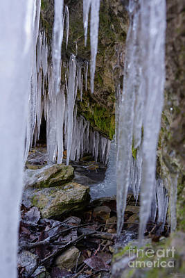 Photograph - Cave Tunnel Of Ice by Jennifer White
