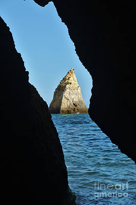 Photograph - Cave View At Three Brothers Beach In Algarve, Portugal by Angelo DeVal