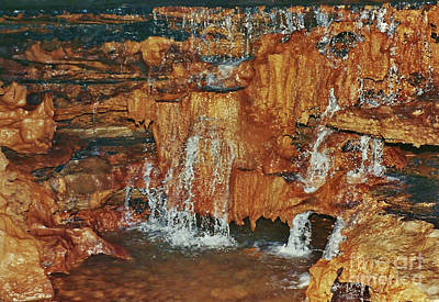 Photograph - Cave Waterfall by D Hackett