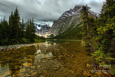 Photograph - Cavell Lake Reflections by Adam Jewell