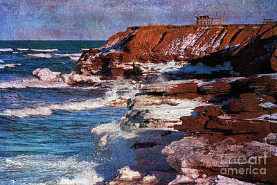 Digital Art - Cavendish Cliffs by Verena Matthew