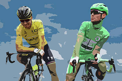 Cyclist Photograph - Cavendish V Sagan Digital Art by Smart Aviation