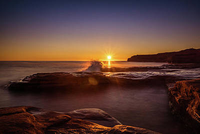 Photograph - Cavendish Waves At Sunrise by Chris Bordeleau