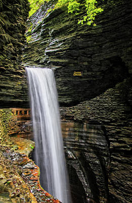 Photograph - Cavern Cascade In Watkins Glen by Carolyn Derstine