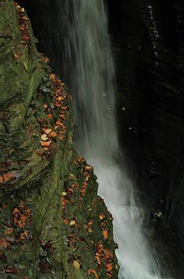 Photograph - Cavern Cascade Watkins Glen State Park by Dan Sproul